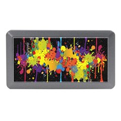 Crazy Multicolored Double Running Splashes Horizon Memory Card Reader (mini) by EDDArt