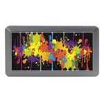 Crazy Multicolored Double Running Splashes Horizon Memory Card Reader (Mini) Front