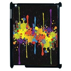 Crazy Multicolored Double Running Splashes Horizon Apple Ipad 2 Case (black) by EDDArt