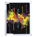 Crazy Multicolored Double Running Splashes Horizon Apple iPad 2 Case (White) Front