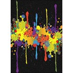Crazy Multicolored Double Running Splashes Horizon WORK HARD 3D Greeting Card (7x5) Inside