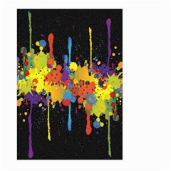 Crazy Multicolored Double Running Splashes Horizon Large Garden Flag (two Sides) by EDDArt