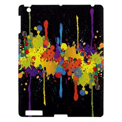 Crazy Multicolored Double Running Splashes Horizon Apple Ipad 3/4 Hardshell Case by EDDArt