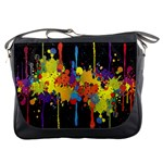 Crazy Multicolored Double Running Splashes Horizon Messenger Bags Front