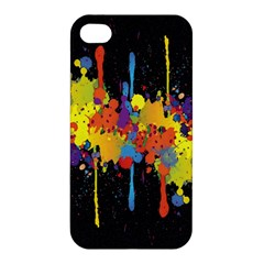 Crazy Multicolored Double Running Splashes Horizon Apple Iphone 4/4s Premium Hardshell Case by EDDArt