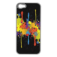 Crazy Multicolored Double Running Splashes Horizon Apple Iphone 5 Case (silver) by EDDArt