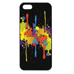 Crazy Multicolored Double Running Splashes Horizon Apple Iphone 5 Seamless Case (black) by EDDArt