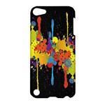 Crazy Multicolored Double Running Splashes Horizon Apple iPod Touch 5 Hardshell Case