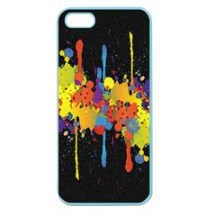 Crazy Multicolored Double Running Splashes Horizon Apple Seamless Iphone 5 Case (color) by EDDArt