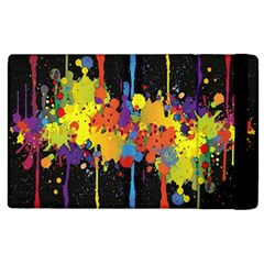 Crazy Multicolored Double Running Splashes Horizon Apple Ipad 2 Flip Case by EDDArt
