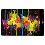 Crazy Multicolored Double Running Splashes Horizon Apple iPad 2 Flip Case