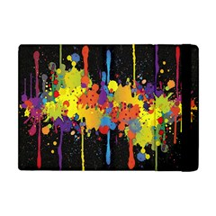 Crazy Multicolored Double Running Splashes Horizon Apple Ipad Mini Flip Case by EDDArt