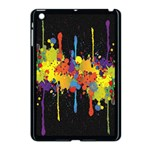 Crazy Multicolored Double Running Splashes Horizon Apple iPad Mini Case (Black) Front