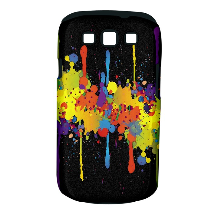 Crazy Multicolored Double Running Splashes Horizon Samsung Galaxy S III Classic Hardshell Case (PC+Silicone)