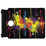 Crazy Multicolored Double Running Splashes Horizon Kindle Fire HD Flip 360 Case
