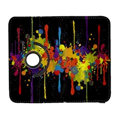 Crazy Multicolored Double Running Splashes Horizon Samsung Galaxy S  Iii Flip 360 Case by EDDArt