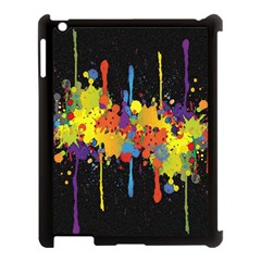 Crazy Multicolored Double Running Splashes Horizon Apple Ipad 3/4 Case (black) by EDDArt
