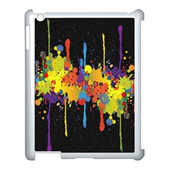 Crazy Multicolored Double Running Splashes Horizon Apple Ipad 3/4 Case (white) by EDDArt