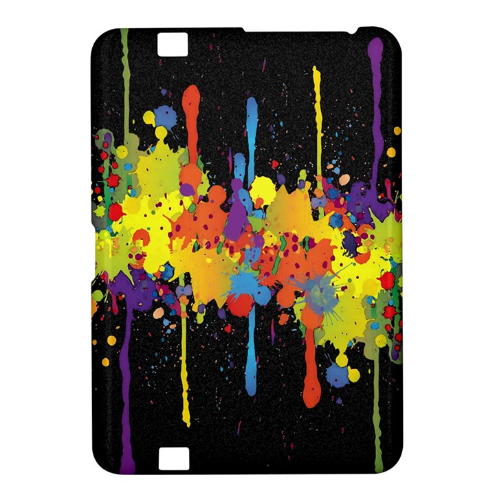 Crazy Multicolored Double Running Splashes Horizon Kindle Fire HD 8.9