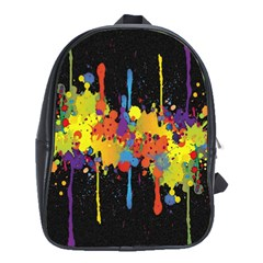 Crazy Multicolored Double Running Splashes Horizon School Bags (xl)  by EDDArt