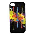 Crazy Multicolored Double Running Splashes Horizon Apple iPhone 4/4S Hardshell Case with Stand