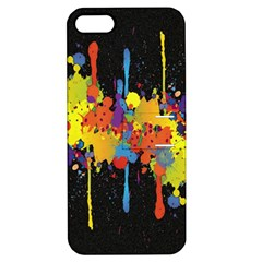 Crazy Multicolored Double Running Splashes Horizon Apple Iphone 5 Hardshell Case With Stand by EDDArt