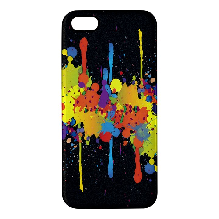 Crazy Multicolored Double Running Splashes Horizon Apple iPhone 5 Premium Hardshell Case