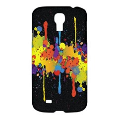 Crazy Multicolored Double Running Splashes Horizon Samsung Galaxy S4 I9500/i9505 Hardshell Case by EDDArt