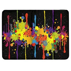Crazy Multicolored Double Running Splashes Horizon Samsung Galaxy Tab 7  P1000 Flip Case