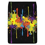 Crazy Multicolored Double Running Splashes Horizon Flap Covers (L)  Front