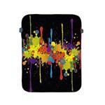 Crazy Multicolored Double Running Splashes Horizon Apple iPad 2/3/4 Protective Soft Cases