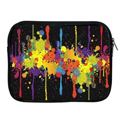 Crazy Multicolored Double Running Splashes Horizon Apple Ipad 2/3/4 Zipper Cases by EDDArt