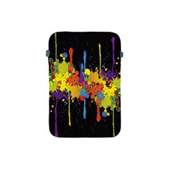 Crazy Multicolored Double Running Splashes Horizon Apple Ipad Mini Protective Soft Cases by EDDArt