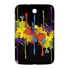 Crazy Multicolored Double Running Splashes Horizon Samsung Galaxy Note 8 0 N5100 Hardshell Case  by EDDArt