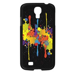 Crazy Multicolored Double Running Splashes Horizon Samsung Galaxy S4 I9500/ I9505 Case (black)
