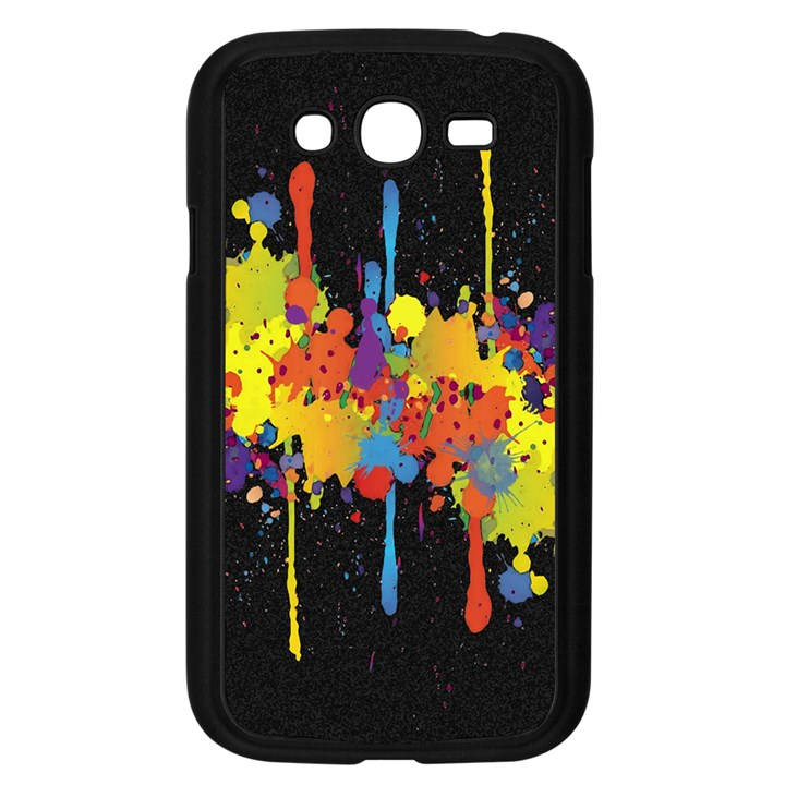 Crazy Multicolored Double Running Splashes Horizon Samsung Galaxy Grand DUOS I9082 Case (Black)