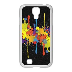 Crazy Multicolored Double Running Splashes Horizon Samsung Galaxy S4 I9500/ I9505 Case (white) by EDDArt