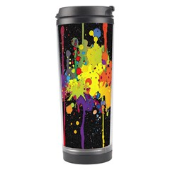 Crazy Multicolored Double Running Splashes Horizon Travel Tumbler
