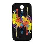Crazy Multicolored Double Running Splashes Horizon Samsung Galaxy S4 I9500/I9505  Hardshell Back Case