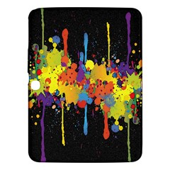 Crazy Multicolored Double Running Splashes Horizon Samsung Galaxy Tab 3 (10 1 ) P5200 Hardshell Case