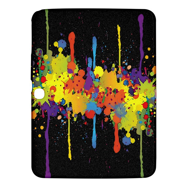 Crazy Multicolored Double Running Splashes Horizon Samsung Galaxy Tab 3 (10.1 ) P5200 Hardshell Case