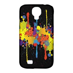 Crazy Multicolored Double Running Splashes Horizon Samsung Galaxy S4 Classic Hardshell Case (pc+silicone) by EDDArt