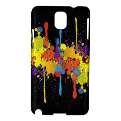 Crazy Multicolored Double Running Splashes Horizon Samsung Galaxy Note 3 N9005 Hardshell Case