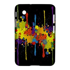 Crazy Multicolored Double Running Splashes Horizon Samsung Galaxy Tab 2 (7 ) P3100 Hardshell Case  by EDDArt