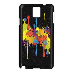 Crazy Multicolored Double Running Splashes Horizon Samsung Galaxy Note 3 N9005 Case (black) by EDDArt