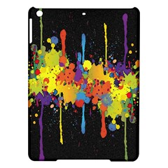Crazy Multicolored Double Running Splashes Horizon Ipad Air Hardshell Cases by EDDArt