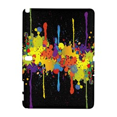 Crazy Multicolored Double Running Splashes Horizon Samsung Galaxy Note 10 1 (p600) Hardshell Case by EDDArt