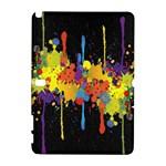 Crazy Multicolored Double Running Splashes Horizon Samsung Galaxy Note 10.1 (P600) Hardshell Case