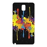 Crazy Multicolored Double Running Splashes Horizon Samsung Galaxy Note 3 N9005 Hardshell Back Case Front