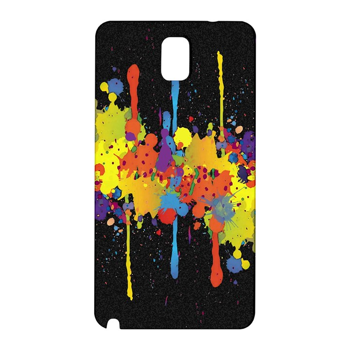 Crazy Multicolored Double Running Splashes Horizon Samsung Galaxy Note 3 N9005 Hardshell Back Case